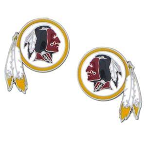 Silver Moon NFL Washington Redskins Stud Earrings