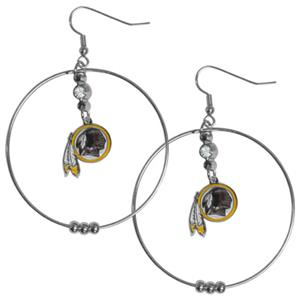 Silver Moon NFL Washington Redskins Hoop Earrings