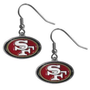 Silver Moon NFL 49ers Short Dangle Earrings