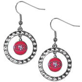 Silver Moon NFL San Francisco 49ers CZ Earrings
