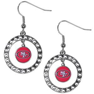 Silver Moon NFL San Francisco 49ers CZ Earrings