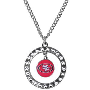 Silver Moon NFL San Francisco 49ers CZ Necklace