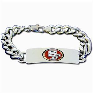 Silver Moon San Francisco 49ers Steel ID Bracelet