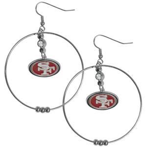 Silver Moon NFL San Francisco 49ers Hoop Earrings
