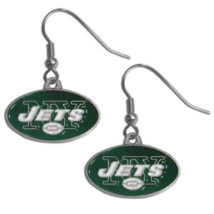 Silver Moon New York Jets Short Dangle Earrings