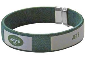 Silver Moon NFL New York Jets Woven Cuff Bracelet