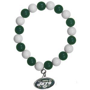 Silver Moon NFL New York Jets Bead Bracelet