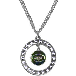 Silver Moon NFL New York Jets CZ Necklace