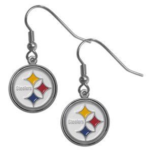 Silver Moon NFL Steelers Short Dangle Earrings