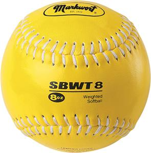Markwort 12&quot; Color Coded Weighted Leather Softball