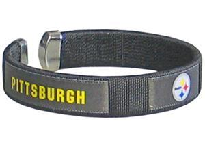 Silver Moon NFL Steelers Woven Cuff Bracelet