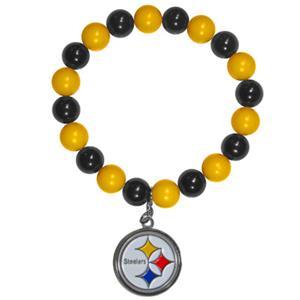 Silver Moon NFL Pittsburgh Steelers Bead Bracelet