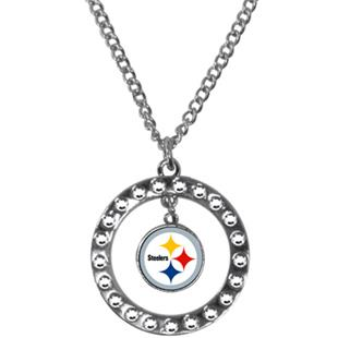 Silver Moon NFL Pittsburgh Steelers CZ Necklace