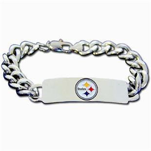 Silver Moon Pittsburgh Steelers Steel ID Bracelet