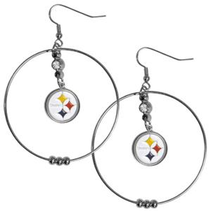 Silver Moon NFL Pittsburgh Steelers Hoop Earrings