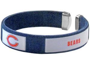 Silver Moon NFL Chicago Bears Woven Cuff Bracelet