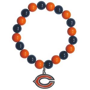 Silver Moon NFL Chicago Bears Bead Bracelet