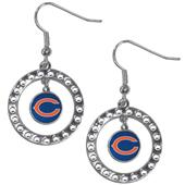 Silver Moon NFL Chicago Bears CZ Earrings