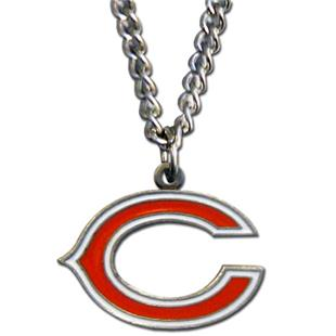 Silver Moon NFL Chicago Bears Charm Necklace