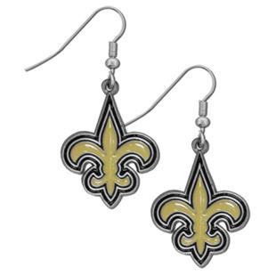 Silver Moon NFL Saints Short Dangle Earrings