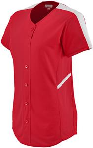 Augusta Womens Closer Button Up Softball Jersey
