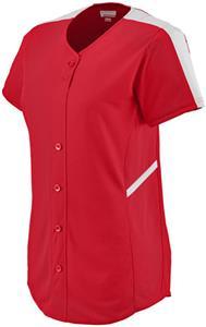 Augusta Womens Closer Button Up Softball Jersey