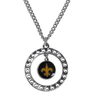 Silver Moon NFL New Orleans Saints CZ Necklace