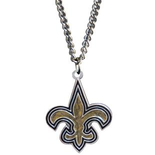 Silver Moon NFL New Orleans Saints Charm Necklace