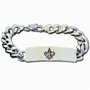 Silver Moon New Orleans Saints Steel ID Bracelet