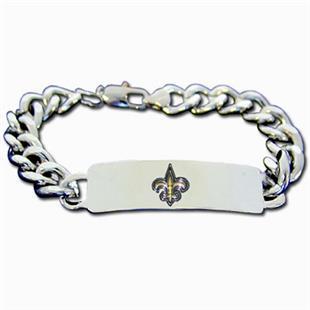 Silver Moon New Orleans Saints Steel ID Bracelet