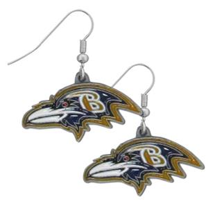 Silver Moon Baltimore Ravens Short Dangle Earrings
