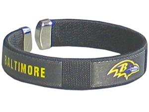 Silver Moon Baltimore Ravens Woven Cuff Bracelet