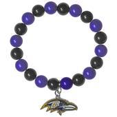 Silver Moon NFL Baltimore Ravens Bead Bracelet