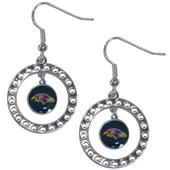 Silver Moon NFL Baltimore Ravens CZ Earrings