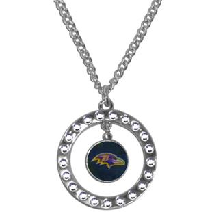 Silver Moon NFL Baltimore Ravens CZ Necklace