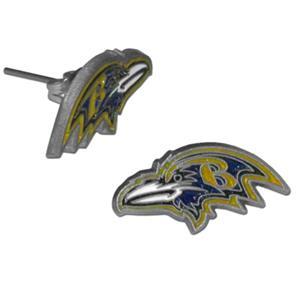 Silver Moon NFL Baltimore Ravens Stud Earrings