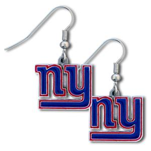 Silver Moon New York Giants Short Dangle Earrings