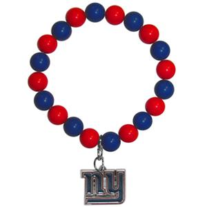 Silver Moon NFL New York Giants Bead Bracelet