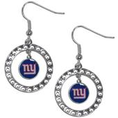 Silver Moon NFL New York Giants CZ Earrings