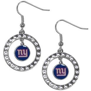 Silver Moon NFL New York Giants CZ Earrings