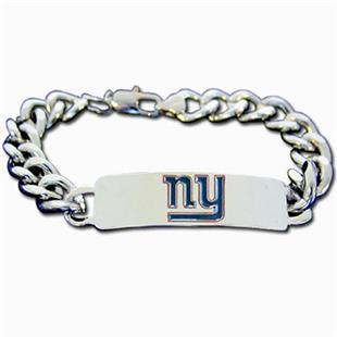 Silver Moon NFL New York Giants Steel ID Bracelet