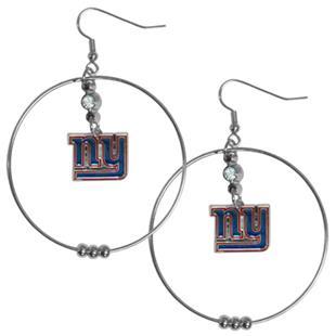 Silver Moon NFL New York Giants Hoop Earrings