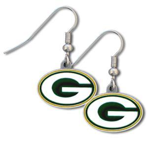 Silver Moon NFL Packers Short Dangle Earrings