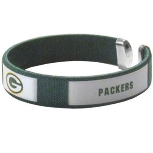 Silver Moon NFL Packers Woven Cuff Bracelet