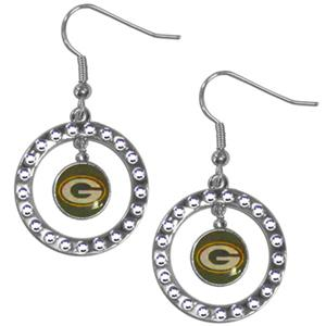 Silver Moon NFL Green Bay Packers CZ Earrings