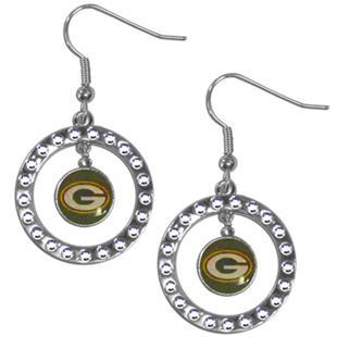 Silver Moon NFL Green Bay Packers CZ Earrings
