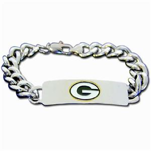 Silver Moon NFL Packers Steel ID Bracelet