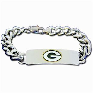 Silver Moon NFL Packers Steel ID Bracelet