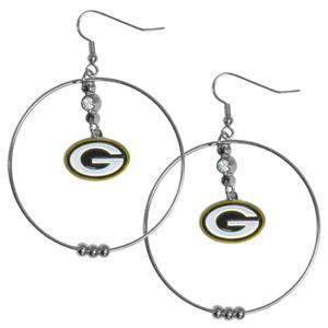 Silver Moon NFL Green Bay Packers Hoop Earrings