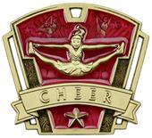 "Hasty Awards 3"" Varsity Cheer Medals M-787CH"
